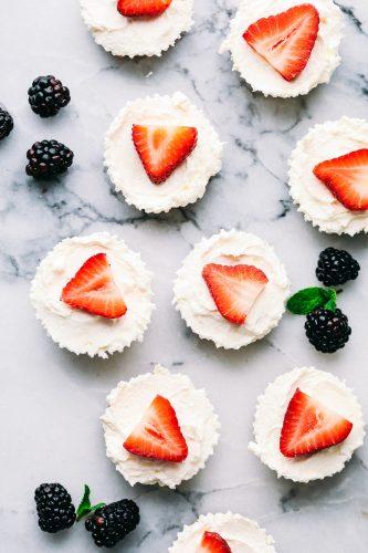 Skinny Mini Cheesecake