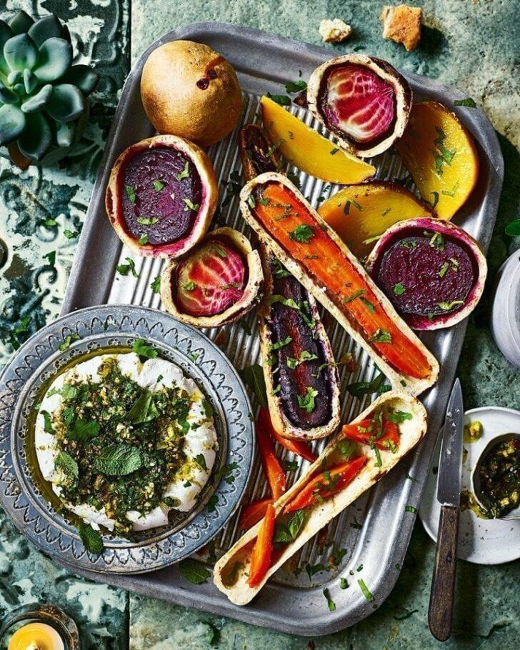 Salt-baked-root-vegetables-with-labneh-BestRecipeFinder