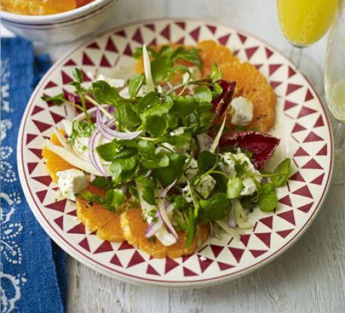 Clementine-Feta- Winter-Leaf-Salad-BestRecipeFinder