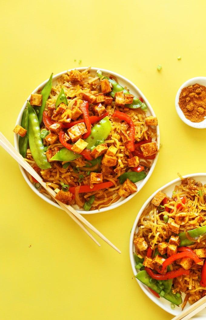Vegan-Singapore-Noodles-BestRecipeFinder
