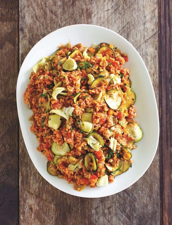 spanish-artichoke-and-zucchini-paella-BestRecipeFinder