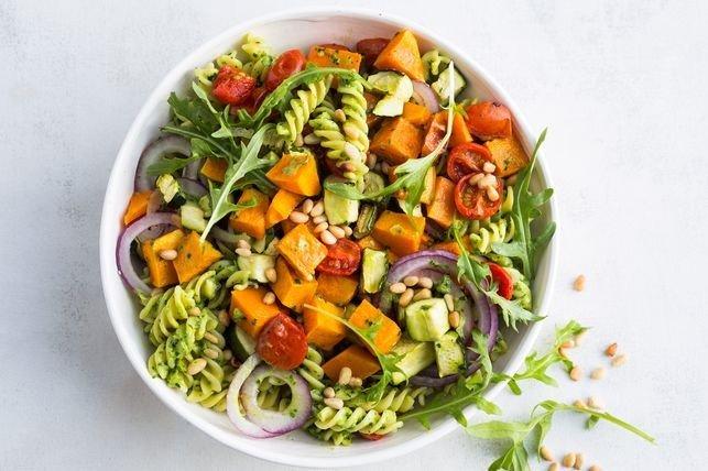 vegan-pasta-salad-with-green-goddess-dressing-BestRecipeFinder