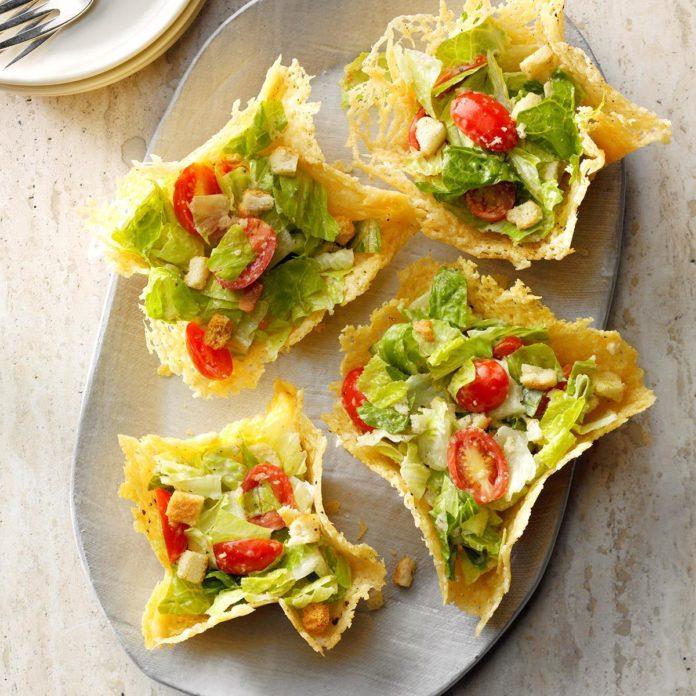 Caesar-Salad-in-Peppered-Parmesan-Bowls-BestRecipeFinder