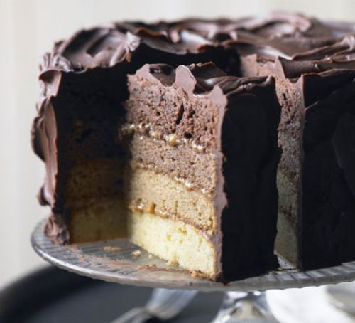 Chocolate-caramel-ombre-cake-BestRecipeFinder