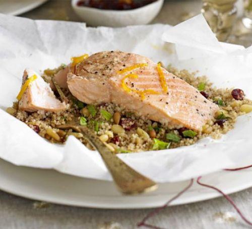 Salmon-cranberry-couscous-parcels-BestRecipeFinder