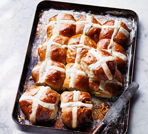 lemon-marzipan-hot-cross-buns-BestRecipeFinder
