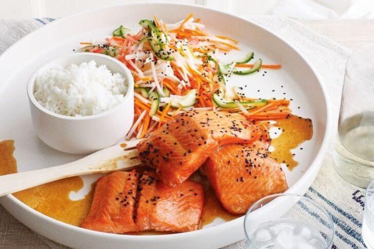 teriyaki-salmon-with-pickled-vegetables-BestRecipeFinder
